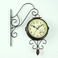 Wholesale L019 two sided wall small clocks special wall clocks new style modern wall clock clocks for home color pc