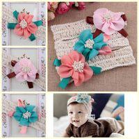 bay girl - 2015 Infant Flower Headbands Girls Lace Headwear Kids Baby NewBorn Bow Children Hair Accessories Bay Boys Hair Bands BFA002