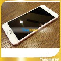 Ebook blanc Prix-2015 Nouveau Métal Blanc Quad Core i6 GooPhone i6s 1: 1 MTK6582 Voir 4G LTE 1G 64GB Android 4.4 3G WCDMA Simple Nano Sim carte à puce téléphonique