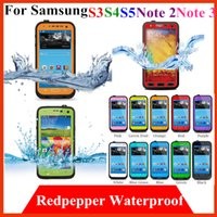 Cheap waterproof Redpepper Cases cover For Samsung galaxy S3 S4 S5 note 2 3 i9300 i9500 N7100 red pepper Water proof underwater Mobile Phone Case