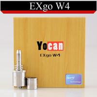 Cheap Original Yocan EXgo W4 Vaporizer Wax Atomizer exgow4 vapor Fit EXgo V1 battery Mechanical Mod Box mod VS Cloupor cloutank m3 m4 DHL