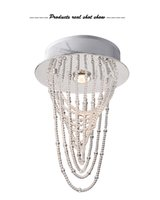 Wholesale Modern and Simple Crystal Chandelier LED D25 H38 Personality glass Living Room Bedroom Ceiling Lamp Pendant Lamp