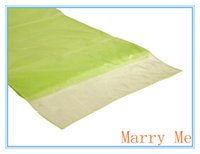 apple table runner - x115 Apple Green Organza Table Runner Table Cloth for Home Decoration