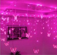 Wholesale Multicolors LED String Strip Festival Holiday Curtain Wedding Lights Garlands m p Butterfly SMD V V EU US UK AU
