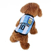 world cup soccer t-shirts - Pet Clothes Dachshund World Cup Soccer Dog Vest Dog Clothing For Cats Coat Chihuahua Argentina Football T Shirt For Dog Clothes