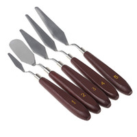 artist oil painting supplies - Stainless Steel set Palette Knife set Mixed Scraper Set Spatula Knives for Artist Oil Painting Supplies