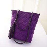 Wholesale handbag new knitting women shoulder bag straw bag