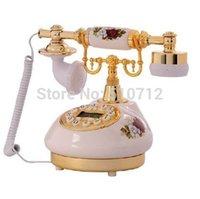 antique french porcelain - Golden Eagle Corded Antique Porcelain French Telephone
