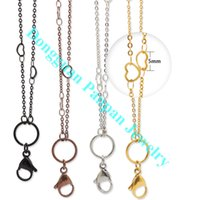 Wholesale Panpan support for blending inch cm L Stainless Steel heart station Chains matching custom lockets