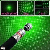 Wholesale 5mW nm Green Light in Single Point in Beam Laser Pointer Pen With Cap For SOS Mounting Night Hunting Teaching Xmas Gifts
