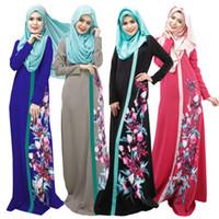Abaya femmes turques vêtements robe musulmane abayas islamic et Vestidos jilbab musulmane d'impression longos de vêtements hijab dubai caftan robes noires