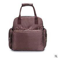 backpacks sleeping bags - 300pcs LJJC3188 High Quality Dots Printed Waterproof Diaper Bag Mummy Bags Baby Nappy Bag Travel Ladies Backpack Durable Nappy Sleeping Bag