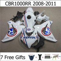Wholesale Motorcycle Fairing Kits For Honda CBR1000RR CBR RR CBR RR Beautiful White Motorbike Bodywork Free Gifts