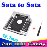 Wholesale Sata quot SSD HDD HD Hard Disk Driver External nd Caddy SATA Case Enclosure for mm CD DVD ROM Optical Bay for Notebook