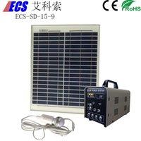 Wholesale ECS SD w AH portable small solar home system DC power bank solar energy system v solar generator solar panel kits