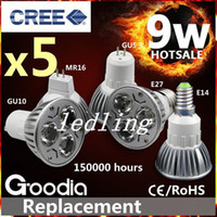 Wholesale CREE led Spotight W W LED GU10 Spot Light LED Bulb Bulbs Lamp K Cold White V Energy Saving Spotlight CE ROHS