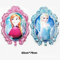 aluminum foil mirror - Cartoon Frozen Balloons Aluminum Magic Mirror Princess Foil Hydrogen Helium Balloon cm For Kids Birthday Party Decoration Factory DHL
