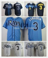 best bay - 2016 New Blue Evan Longoria Jersey Cheap Tampa Bay Rays Jerseys Baseball Longoria Rays Jersey Best Quality Embroidery Cheap