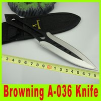 Wholesale 201411 Browning A throwing knife utility outdoor survival hiking knives Outdoor Camping Hunting Rescue Knife Christmas Gift X