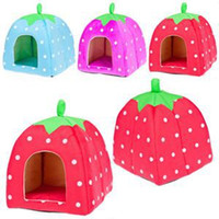 Wholesale High Quality Cute Strawberry Design Dog Bed House Fashion Kennel Pens For Dog With Low Price New Brand Pet Houses