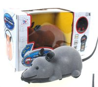 battery operated rat - Two Way Wireless Remote Control Mouse Flocking Tricky RC Toy Funny Rotating Rat Toy For Cat Dog Pet