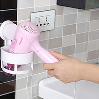 Wholesale New Adhesive Disc Sucker Hair Dryer Holder Rack Kitchen Bathroom Comb Storage Organizer Color Can Choose