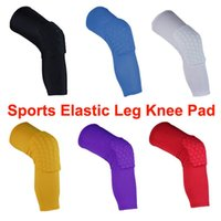 Wholesale Sports Elastic Leg Knee Pad Support Brace Basketball Protector Gear Honeycomb Kneepad Cycling Long Knee Protector Soft Sport Safety