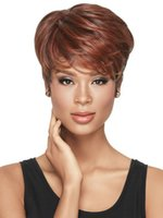 Wholesale 2015 Sale Fashion Eurlop and USA Hairpiece Woman Hair Wigs straight synthetic hairpicec Synthetic fiber short Short Hair sw12