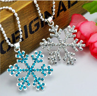 best snowflakes - Good quality Frozen Elsa Rhinestone Snowflake Pendant Necklace Children girls Jewelry Christmas Gift Best Gift