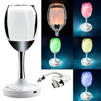 Wholesale 2015 New Arrival Great W G LED Win Light White RGB Mi Light Adjustable Wine Cup Night Lamp