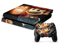 Wholesale Super mario DECAL SKIN PROTECTIVE STICKER for SONY PS4 CONSOLE CONTROLL