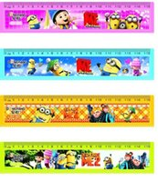 Wholesale LJJD3839 Despicable Me rulers cm Cartoon Minions rulers ruler Korea stationery Minions Figures Ruler Despicable Me Minions ruler