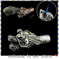 gadgets gifts - 2015 Dragon head shape Creative gadget Windproof Portable Inflatable Smoking Cigarette Torch Lighter Butane Gas For Men Women Gifts