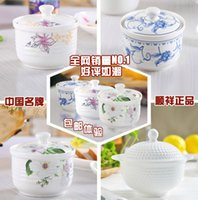 Wholesale Ceramic slow cooker high temperature resistant water resisting bird s nest bone china pot interaural lid shunxiang