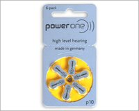 hearing aid batteries - 6 pack PowerOne PR70 P10 A10 S10 zinc air button battery for Hearing aid