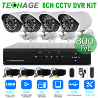Wholesale 2015 Upgrade Home Surveillance camera system kit CH H H HDMI DVR TVL Day Night IR waterproof Bullet Camera CCTV Systems