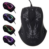 Wholesale 2015 Adjustable DPI Buttons Optical USB Wired Gaming Mouse Professional Game Mice Colors LED for PC Laptop Computer