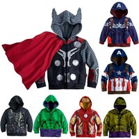 Wholesale 2016 New Boys Avengers Kids Jackets And Coats Outerwear Kids Super Hero Captain America Jackets Clothing Children