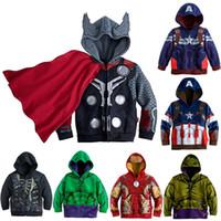 avengers jacket - 2016 New Boys Avengers Kids Jackets And Coats Outerwear Kids Super Hero Captain America Jackets Clothing Children