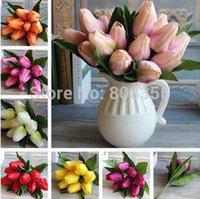 silk tulips - European Silk Tulip cm quot Length Artificial Silk Flowers Simulation Dutch Tulip Heads for Wedding Flower Bridal Bouquet