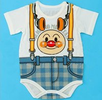 beige coverall - New Fashion Baby Unisex Character Rompers False Suspenders Girls Romper Boys Outfits Cotton Short Coverall Free