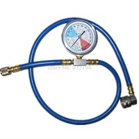 Wholesale NEW REFRIGERANT R A RECHARGE MEASURING KIT AUTOMOBILE HOUSEHOLD A C CONDITIONING GAUGE SYSTEM HOSE LEFT MM RIGHT MM order lt no tra