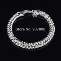 Wholesale Cheap MM Silver Figaro Link Bracelet Fashion Jewelry for men Top Quality