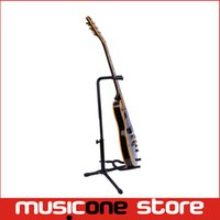 Wholesale New Portable Black Guitar Folding Fold Tripod Gear Tubular Acoustic Electric Guitar Stand MU0298