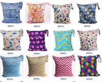 Wholesale Animal Printed Baby Zippered Wet Dry Diaper Bag Waterproof Wet and Dry Cloth Diaper Bags Wet Swimsuit Bag WetBag cm
