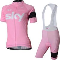Wholesale SKY Cycling Jersey Set women Road Racing Bike Suit Short Sleeve Ultra Breathable pink Color Cycling Clothes XS XL Bib none bib Set