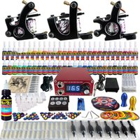 Beginner Kit rotary tattoo kit - Solong Tattoo Complete Tattoo Kit Pro Rotary Machine Guns Inks ML Power Supply Needle Grips TK352 by DHL