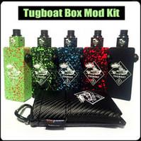 cigarettes wholesale - Tugboat Box Mod Kit Tuglyfe Clone Unregulated Mod With Tugboat Box Mod Tugboat Cubed RDA Atomizer Dual Battery E Cigarette