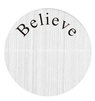 believe designs - 20pcs Believe you floating plates mm Stainless Steel Living Locket Plate fit mm floating lockets designs for your choice