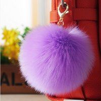 accessories deals - Daily Deals Soft Real Rabbit Fur Ball Key Chains Ball Pom Poms Plush Keychain Car Keyring Bag Earrings Accessories